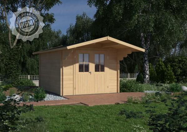 Gartenhaus Nienburg 44-A mit Boden + Isoglas