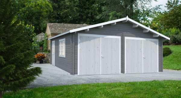 Garage Roger 28,4 m² mit Holztor - farbig