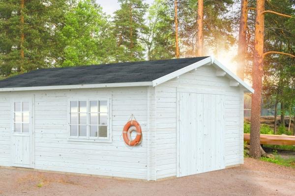 Garage Roger 23,9 m² mit Holztor - unbehandelt