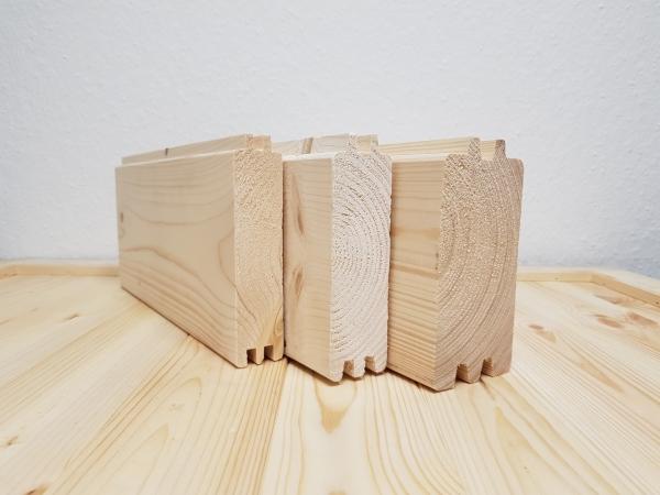 Blockbohlenreihe extra 34 mm - B