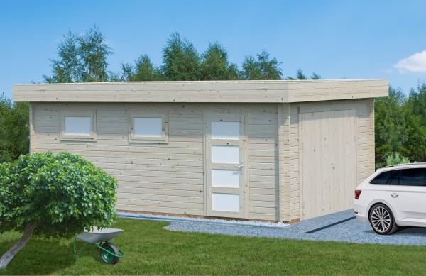 Garage Rasmus 19,0 m² mit Holztor