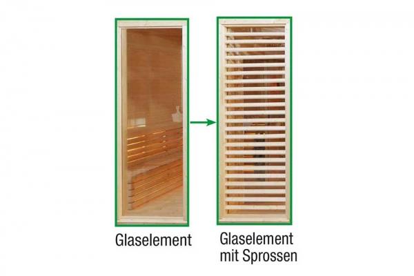 Sauna Paradiso: Tausch Glas in Sprossen