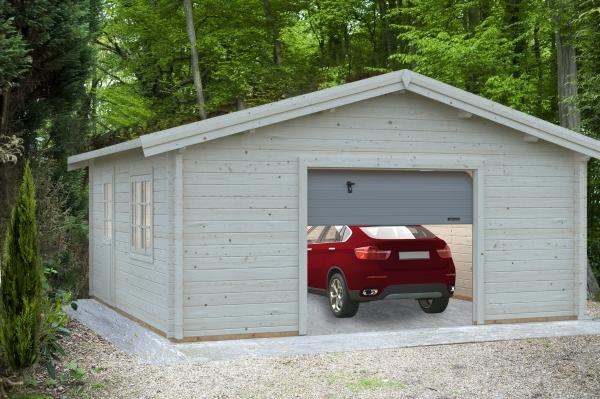 Garage Roger 27,7 m² mit Sektionaltor - farbig