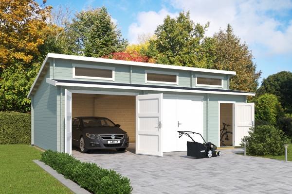 Garage SET HAWAII MIT HOLZTOREN - farbig