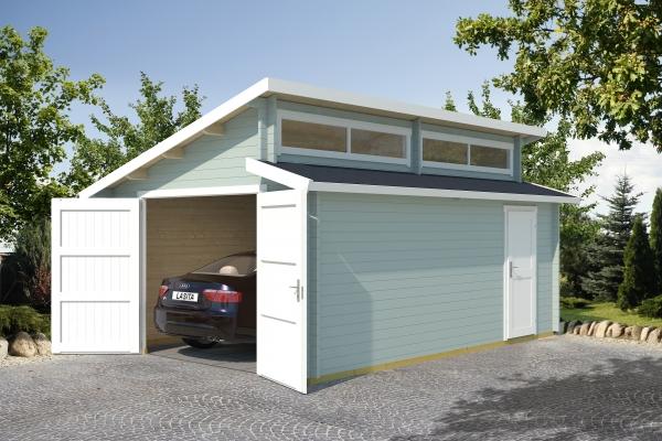 Garage SET PANAMA MIT HOLZTOR - farbig