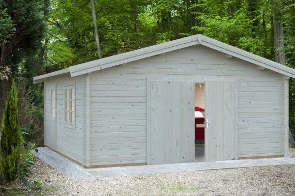 Garage Roger 27,7 m² mit Holztor - unbehandelt