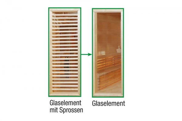Sauna Paradiso: Tausch Sprossen in Glas