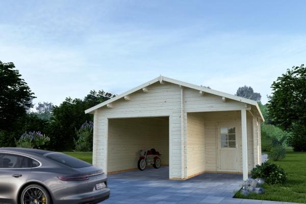 Garage Roger 21,9+5,2 m² ohne Tor - unbehandelt