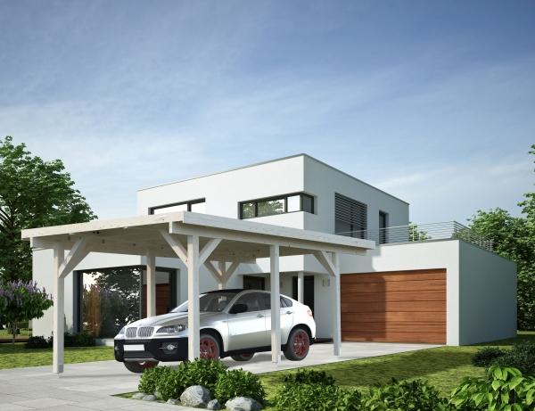 Carport Karl 11,7 m² - farbig