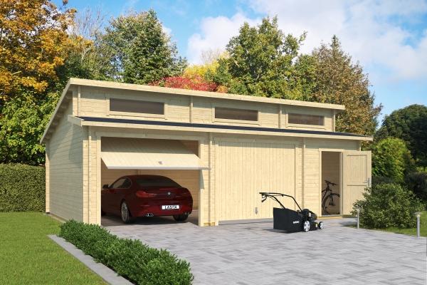 Garage SET HAWAII MIT SCHWINGTOREN - unbehandelt
