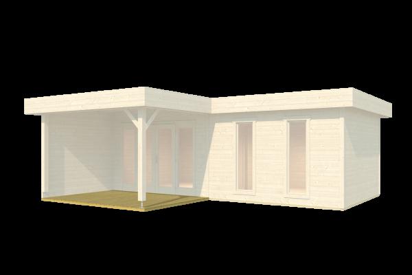 Terrassen-Modul für Gartenhaus Brava u. Brava 2