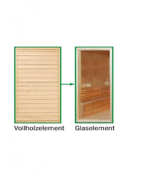 Sauna Paradiso: Tausch Vollholz in Glas
