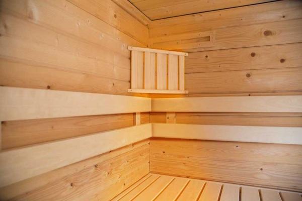Sauna-Eck-Lampe mit Abschirmung