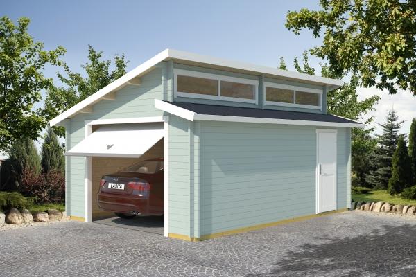 Garage SET PANAMA MIT SCHWINGTOR - farbig