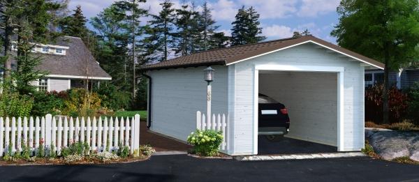 Garage Tomas 19,2 m² ohne Tor - unbehandelt