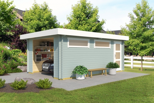 Garage Canberra OHNE TORE - farbig