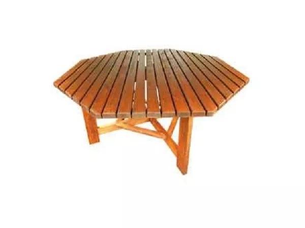 Großer Tisch (für 10-Eck Reetdach-Pavillon) für 330 - 400 cm Pavillons