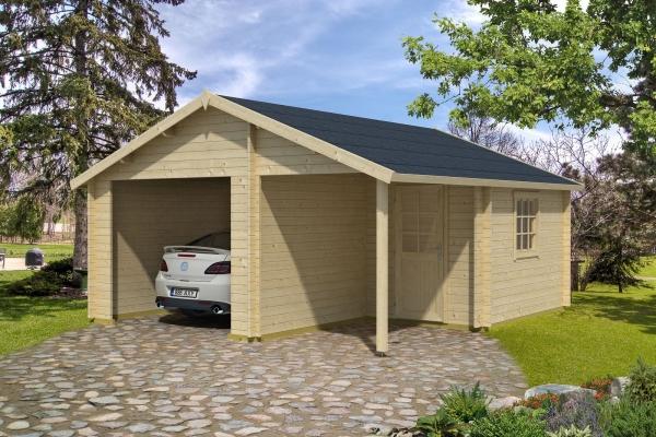 Garage NEVIS OHNE TORE - unbehandelt