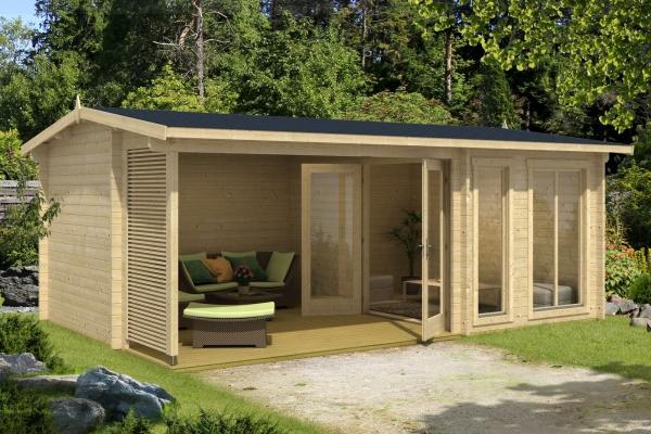 Gartenhaus TORQUAY 44 - farbig