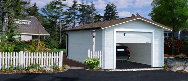 Garage Tomas 19,2 m² mit Sektionaltor - farbig