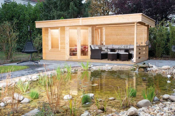 Gartenhaus Nina 28-B mit Terrasse