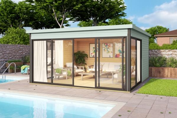 Gartenhaus SET DOMEO 5 - farbig