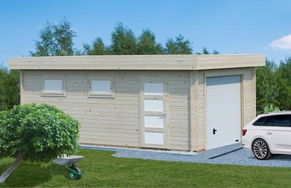 Garage Rasmus 19,0 m² mit Sektionaltor