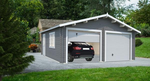 Garage Roger 28,4 m² mit Sektionaltor - farbig