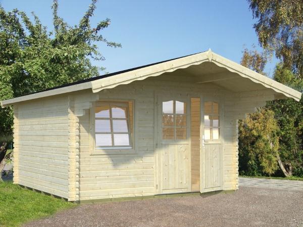 Gartenhaus Sally 12,3 m² - unbehandelt