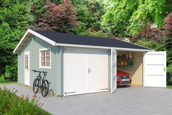 Garage SET FALKLAND MIT HOLZTOR - farbig