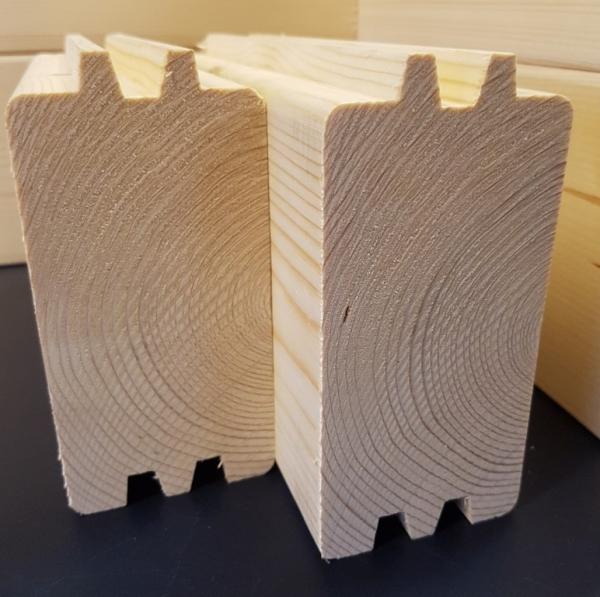 Blockbohlenreihe extra 70 mm - A