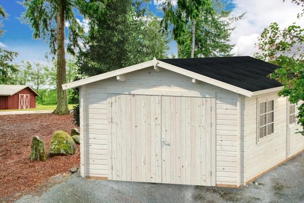 Garage Roger 19,0 m² mit Holztor - unbehandelt