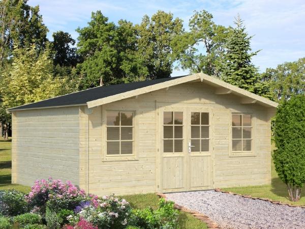Gartenhaus Klara 17,0 m² - unbehandelt