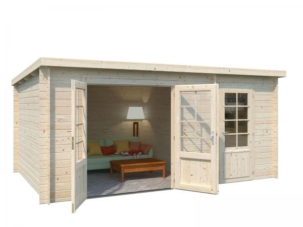 Gartenhaus Ella 13,1 m² - unbehandelt