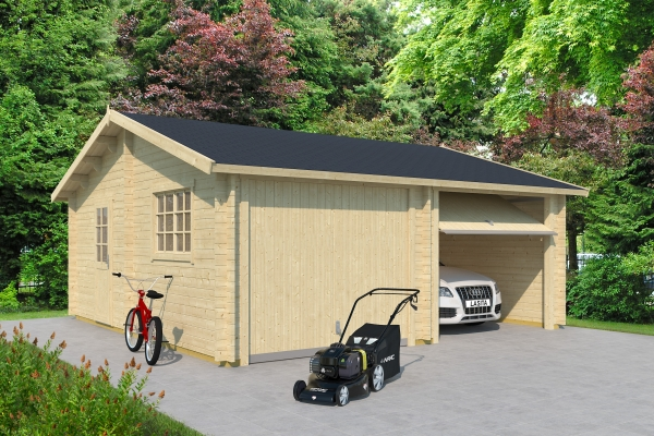 Garage SET FALKLAND MIT SCHWINGTOR - unbehandelt