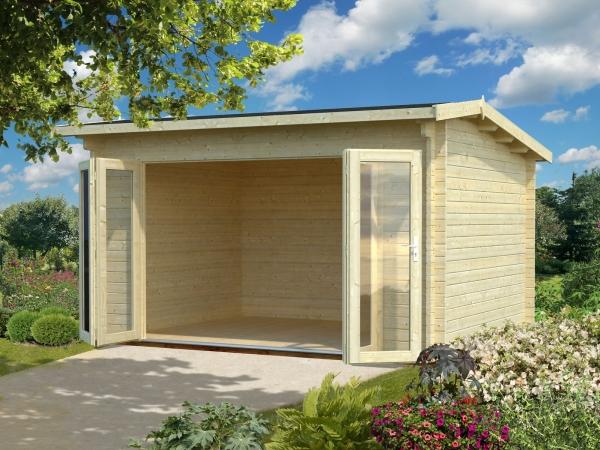 Gartenhaus Ines 11,1 m² - unbehandelt