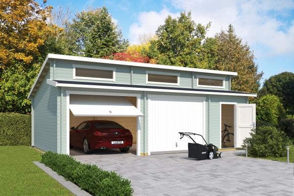 Garage SET HAWAII MIT SCHWINGTOREN - farbig