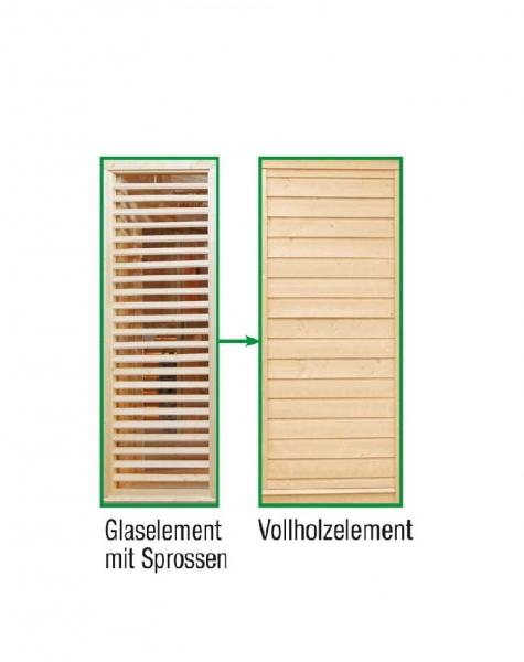 Sauna Paradiso: Tausch Sprossen in Vollholz